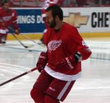 Todd Bertuzzi skates during pregame warmups.
