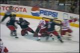 Tomas Holmstrom scores on a power play and Pavel Datsyuk scores five seconds later, combining for the fastest pair of goals in Red Wings history.