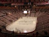 Joe Louis Arena is empty 90 minutes before the start of Game Five of the 2008 Stanley Cup Finals.