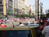 Northbound Woodward Ave. is flanked by Red Wings fans prior to the 2008 Stanley Cup parade.