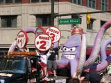 A float carrying Al the Octopus takes part in the 2008 Stanley Cup parade.
