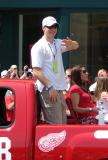 Kirk Maltby waves to the fans at the 2008 Stanley Cup parade.