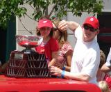 Chris Osgood moves to wave to fans during the 2008 Stanley Cup parade.