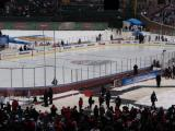 The Winter Classic rink at Wrigley Field.
