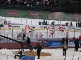The Red Wings take part in pre-game warmups before the Winter Classic.
