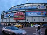The exterior of Wrigley Field following the Winter Classic.