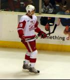 Sergei Kolosov skates along the boards during pre-game warmups before a Grand Rapids Griffins game.