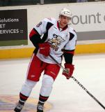 Joakim Andersson skates near the blue line during pre-game warmups before a Grand Rapids Griffins game.