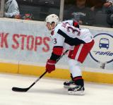 Doug Janik prepares for a faceoff in a Grand Rapids Griffins game against the Texas Stars.