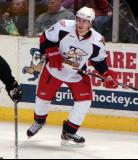 Brendan Smith watches the play develop in a Grand Rapids Griffins game against the Texas Stars.