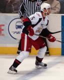 Jakub Kindl attempts to hold the blue line in a Grand Rapids Griffins game against the Texas Stars.