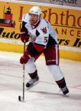 Jakub Kindl carries the puck through his own zone in a Grand Rapids Griffins game against the Texas Stars.
