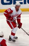 Drew Miller looks for a pass on a rush during pre-game warmups.