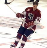 Larry Murphy skates through center ice during pregame warmups for the 1999 All-Star Game.