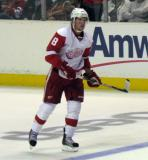 Justin Abdelkader skates during a stoppage in the Red & White Game.