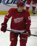 Joakim Anderson skates during pre-game warmups before a preseason game.