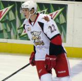 Louis-Marc Aubry skates across the blue line during pre-game warmups before a Grand Rapids Griffins game.
