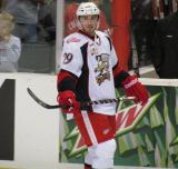 Landon Ferraro skates near the boards during pre-game warmups before a Grand Rapids Griffins game.