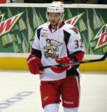 Brian Lashoff skates during pre-game warmups before a Grand Rapids Griffins game.