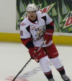 Willie Coetzee skates during pre-game warmups before a Grand Rapids Griffins game.