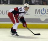 Doug Janik lines up for a faceoff during a Grand Rapids Griffins game.
