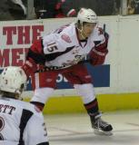 Mitchell Callahan lines up for a faceoff during a Grand Rapids Griffins game.