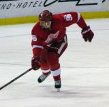 Tomas Holmstrom races up the ice.