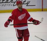 Todd Bertuzzi skates during a stoppage in play.