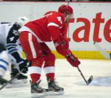 Henrik Zetterberg drives to the net.