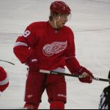Justin Abdelkader skates during a stoppage in play.