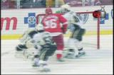 An apparent goal by Nicklas Lidstrom on Pittsburgh's Marc-Andre Fleury is waived off due to goaltender interference by Tomas Holmstrom.