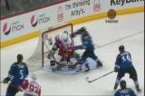 A Johan Franzen goal called back due to goaltender interference on Colorado's Craig Anderson by Tomas Holmstrom.