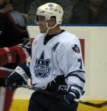 Erik Westrum of the Toronto Marlies waits for a faceoff against the Grand Rapids Griffins.