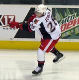 Tomas Jurco fires a shot on goal during pre-game warmups before a Grand Rapids Griffins game.