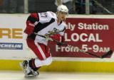 Tomas Tatar skates along the boards during pre-game warmups before a Grand Rapids Griffins game.