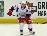 Tomas Tatar skates away from the boards during pre-game warmups before a Grand Rapids Griffins game.