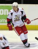 Brendan Smith skates during pre-game warmups before a Grand Rapids Griffins game.
