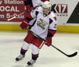 Triston Grant skates during pre-game warmups before a Grand Rapids Griffins game.