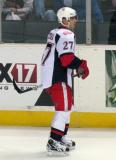 Tomas Tatar skates to the bench during pre-game warmups before a Grand Rapids Griffins game.