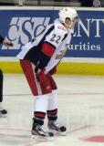 Louis-Marc Aubry lines up for a faceoff in a Grand Rapids Griffins game.