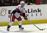 Nathan Paetsch controls the puck at the point in a Grand Rapids Griffins game.
