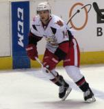 Chad Billins skates over the blue line during a Grand Rapids Griffins game.