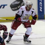 Landon Ferraro skates through the neutral zone during a Grand Rapids Griffins game.