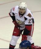 Tomas Tatar lines up for a faceoff in a Grand Rapids Griffins game.