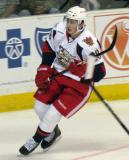 Tomas Jurco skates along the end boards during a Grand Rapids Griffins game.