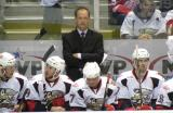 Grand Rapids Griffins' head coach Jeff Blashill stands behind the bench.