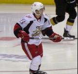 Gustav Nyquist looks up ice during a Grand Rapids Griffins game.