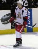 Brian Lashoff skates in the neutral zone during a stop in play in a Grand Rapids Griffins game.