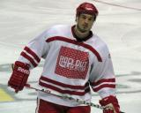 "Jonathan Ericsson skates toward the bench prior to the ""Rock Out the Lockout"" charity game."