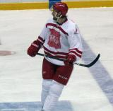 """Niklas Kronwall skates near the blue line during the """"Rock Out the Lockout"""" charity game."""